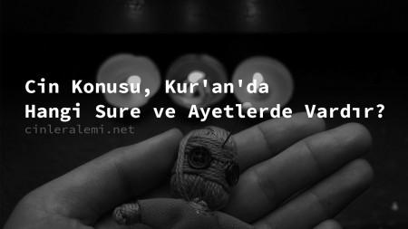 Cin Konusu, Kur'an'da Hangi Sure ve Ayetlerde Vardır?